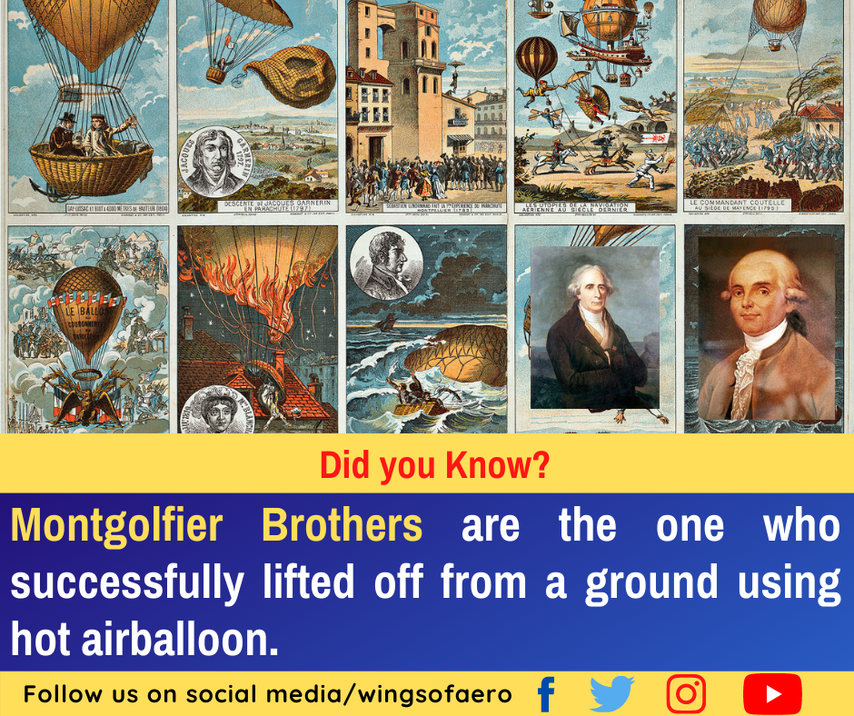 Montgolfier Brothers Hot Air Balloon