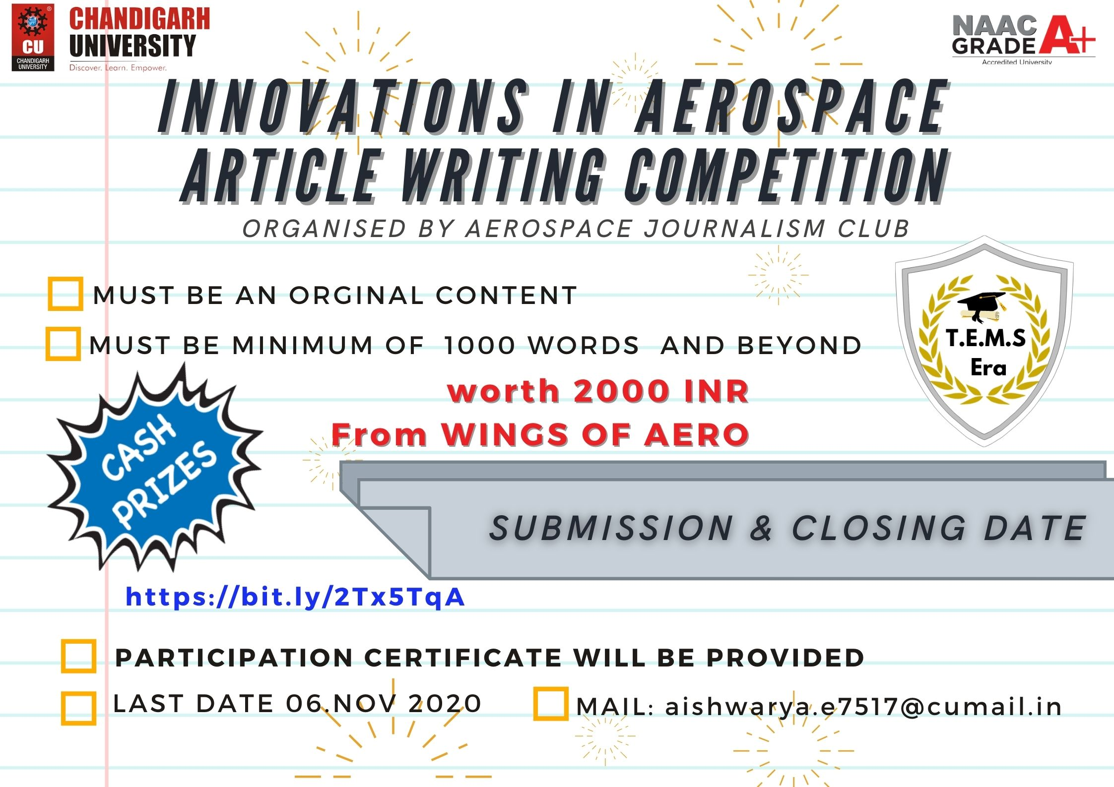 Innovation in Aerospace 2020 | Article Writing – Competition