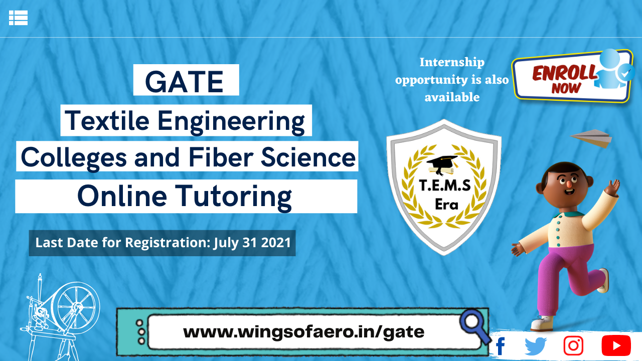 GATE  Textile Engineering  Colleges and Fiber Science
